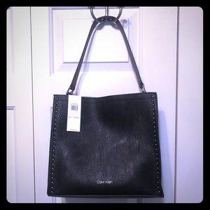 • Calvin Klein Black/Grey Shoulder Bag •